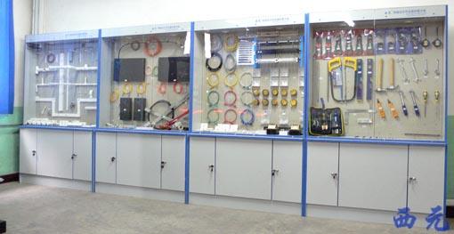 西元综合布线实验室-网络综合布线器材展示柜